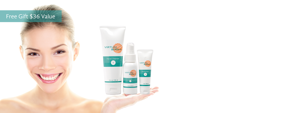 Virtual Acne Md, an all natural three step skin care system created just for you